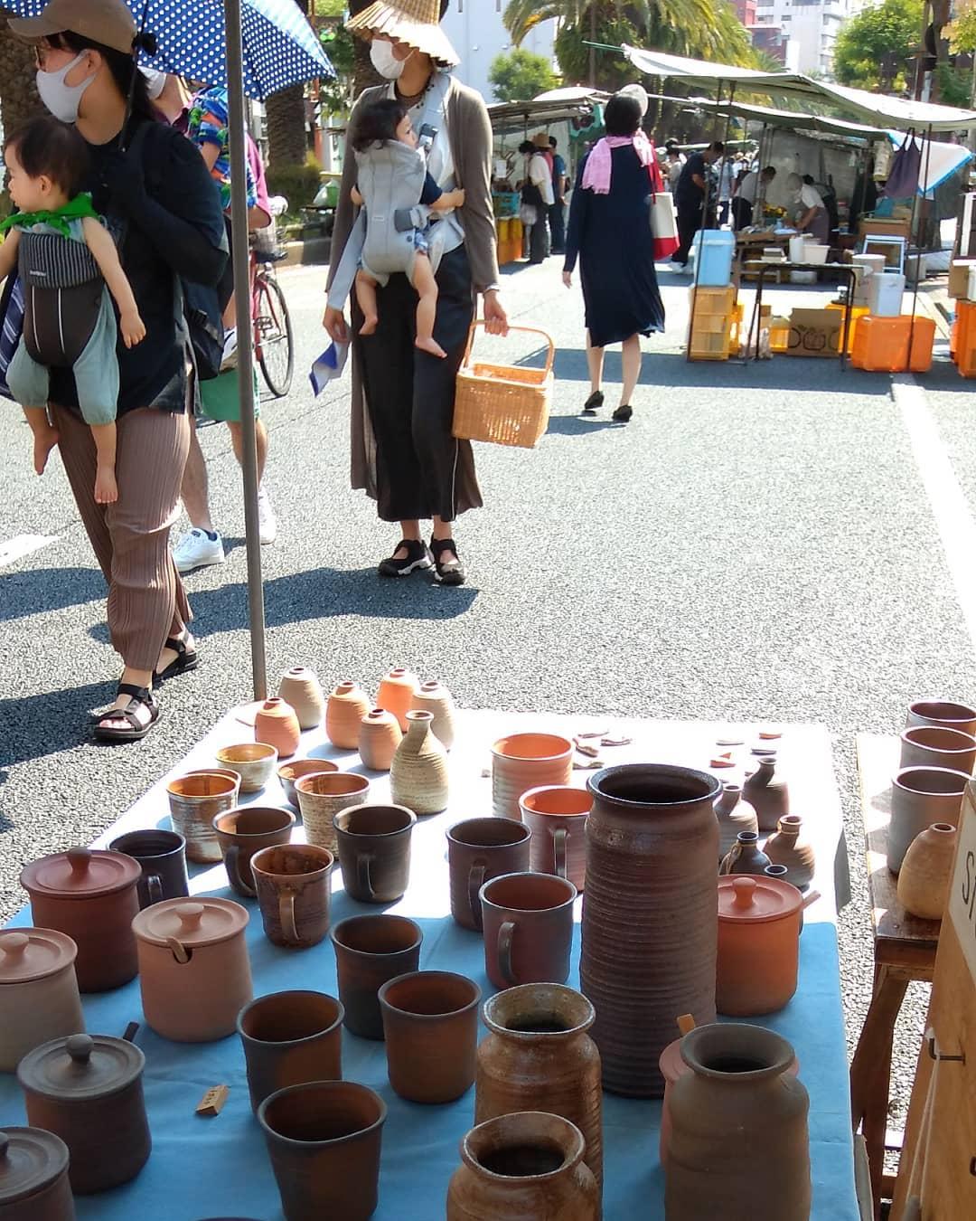 日曜市4丁目238。新荘川焼。#sundaymarket#kouchijapan#pottery